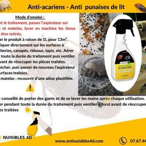 Anti acariens en spray