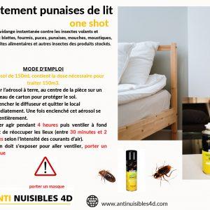 Anti Guêpes insecticide aérosol choc instantané 150ML